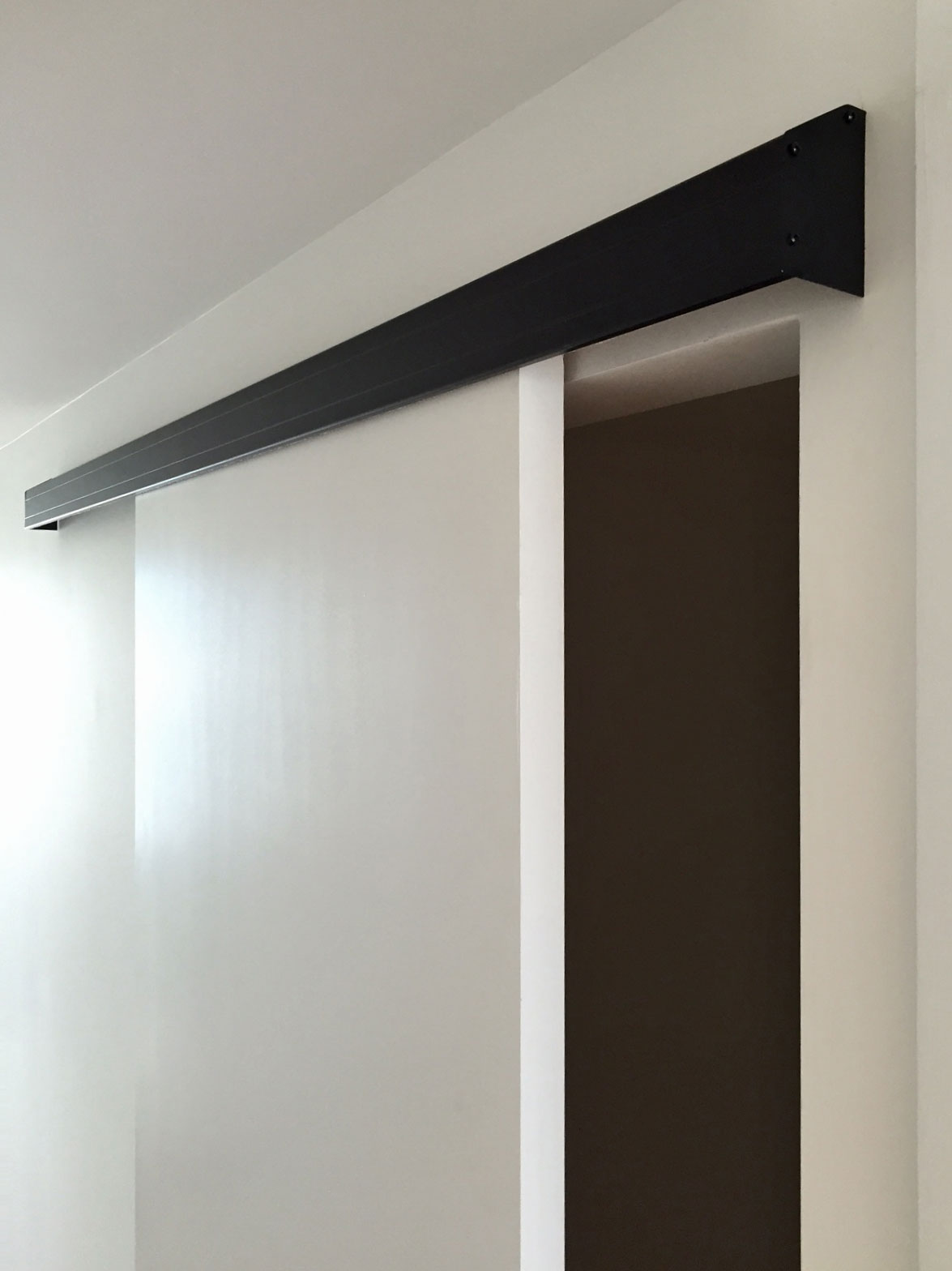 Wall mount track powder coated