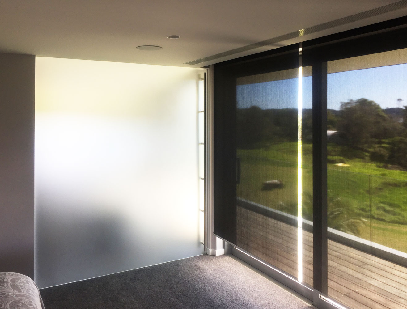Full Height Frameless Glass